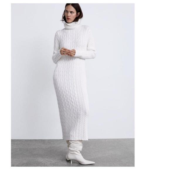 585ba413 Zara Dresses | Long Knit Dress 5536 | Poshmark